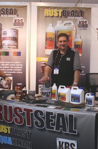 KBS Coatings trade show stand