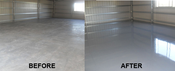RustSeal on Floor Before-After
